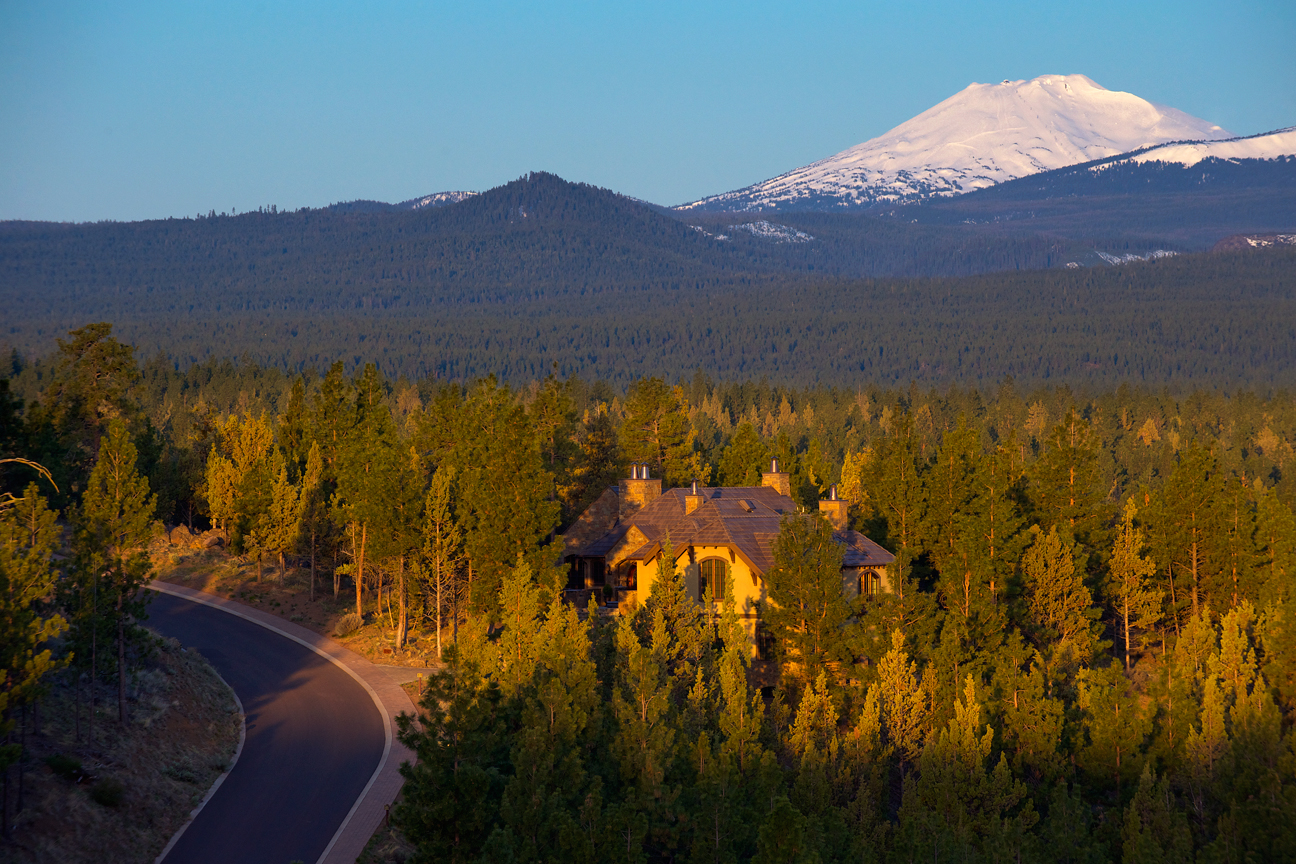 View of home and Mt. Bachelor
