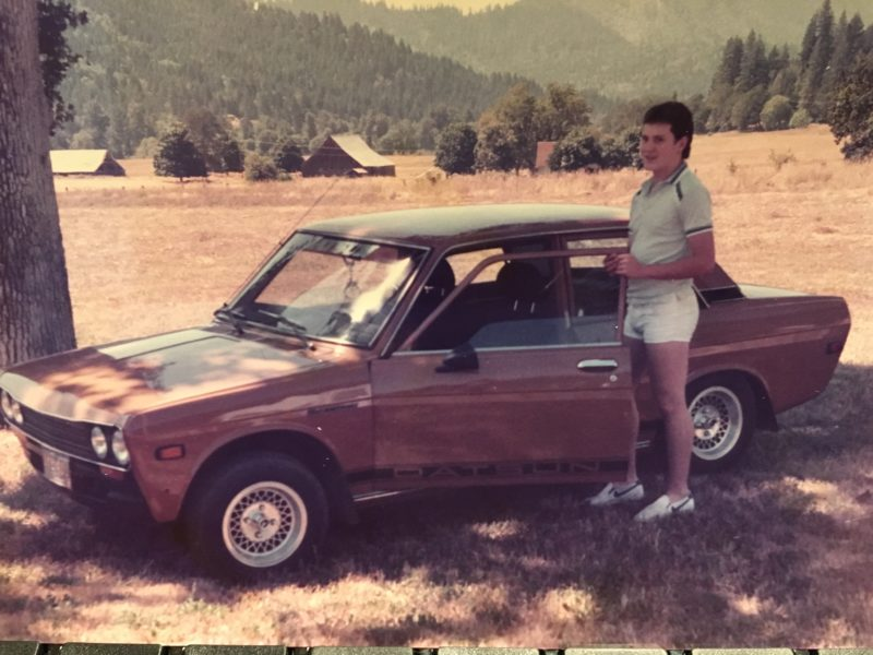 Me and my Datsun circa 1983.