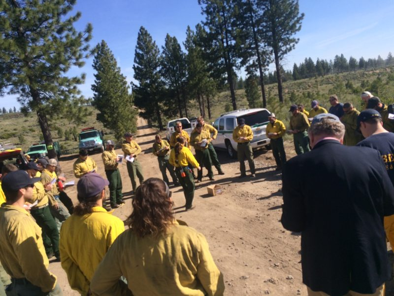 Briefing before prescribed burn